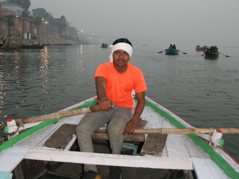 Boat driver at Ganges