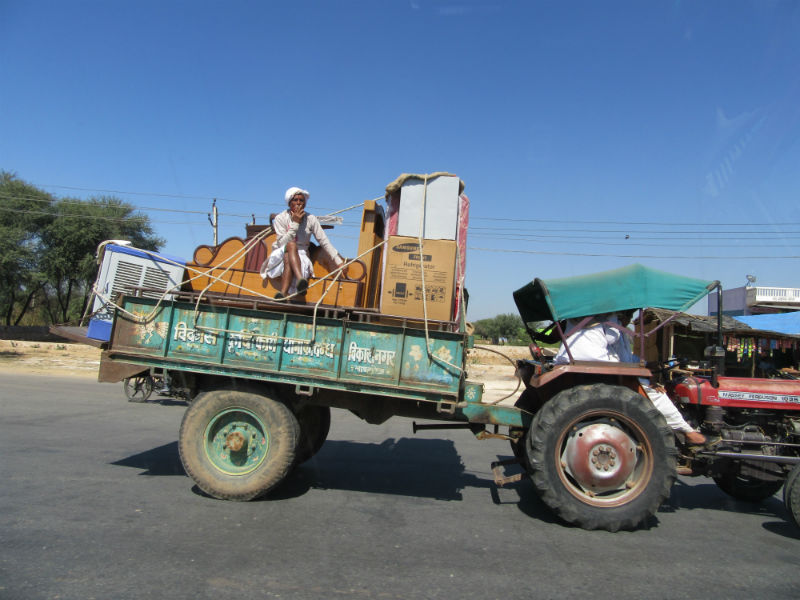 Tractor Loaded with Furniture