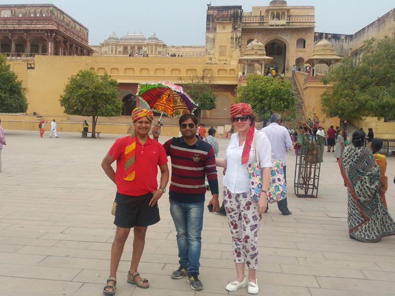 Guests with Guide at Fort Jaipur