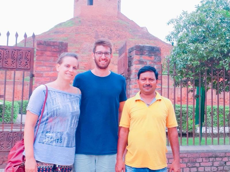At Chaukhandi Stupa